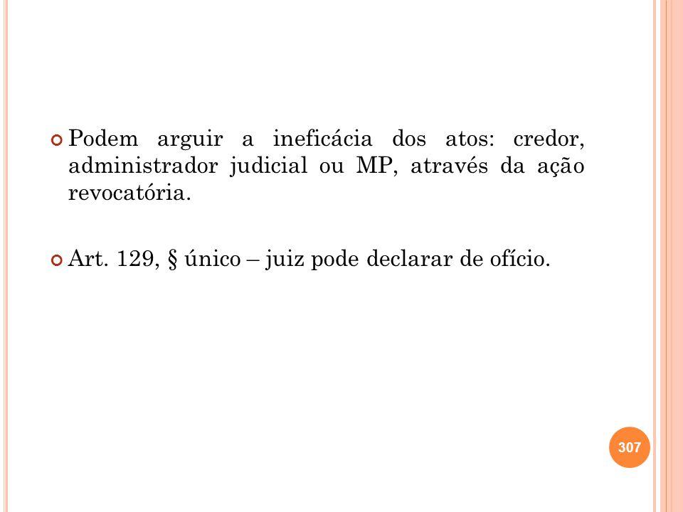 Art. 129, § único – juiz pode declarar de ofício.