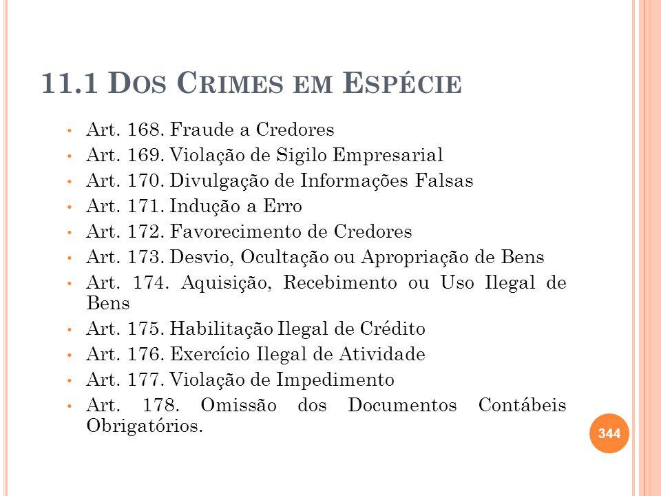 11.1 Dos Crimes em Espécie Art. 168. Fraude a Credores