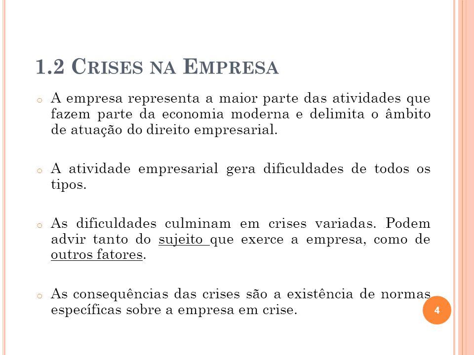 1.2 Crises na Empresa