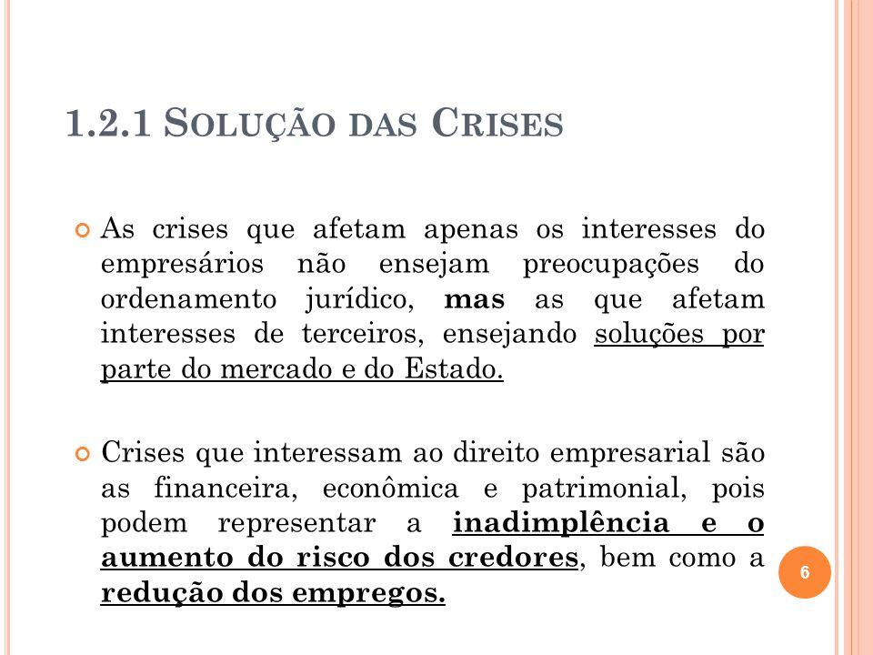 1.2.1 Solução das Crises