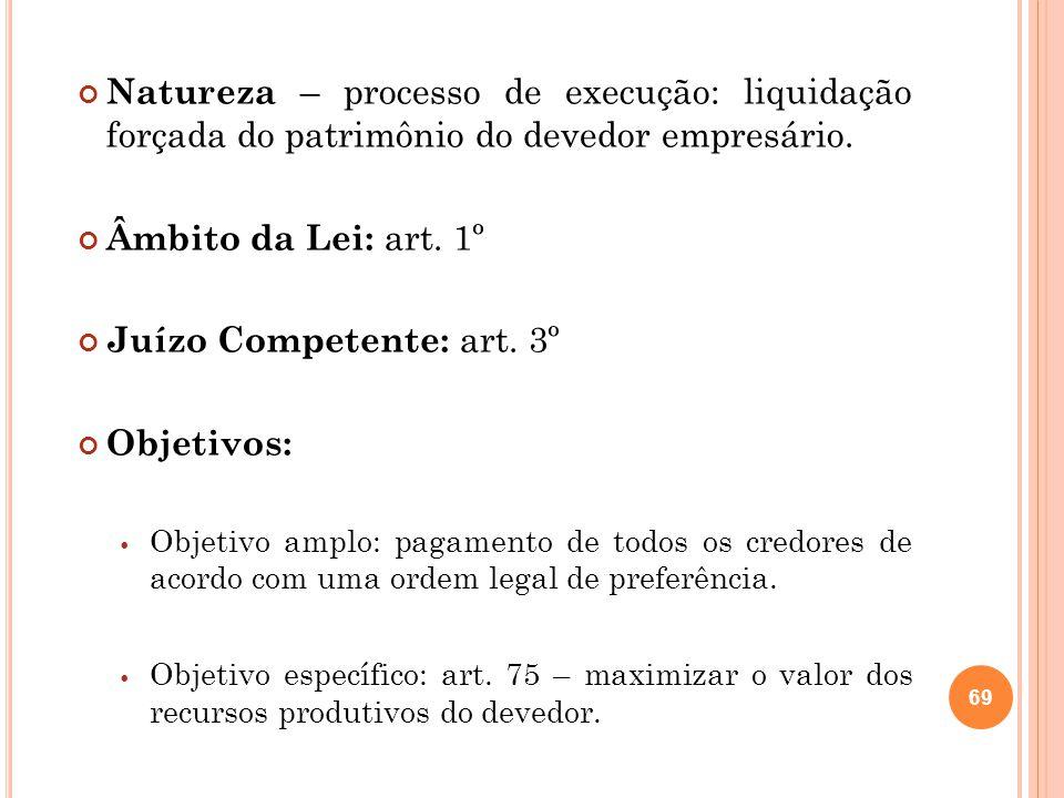 Juízo Competente: art. 3º Objetivos: