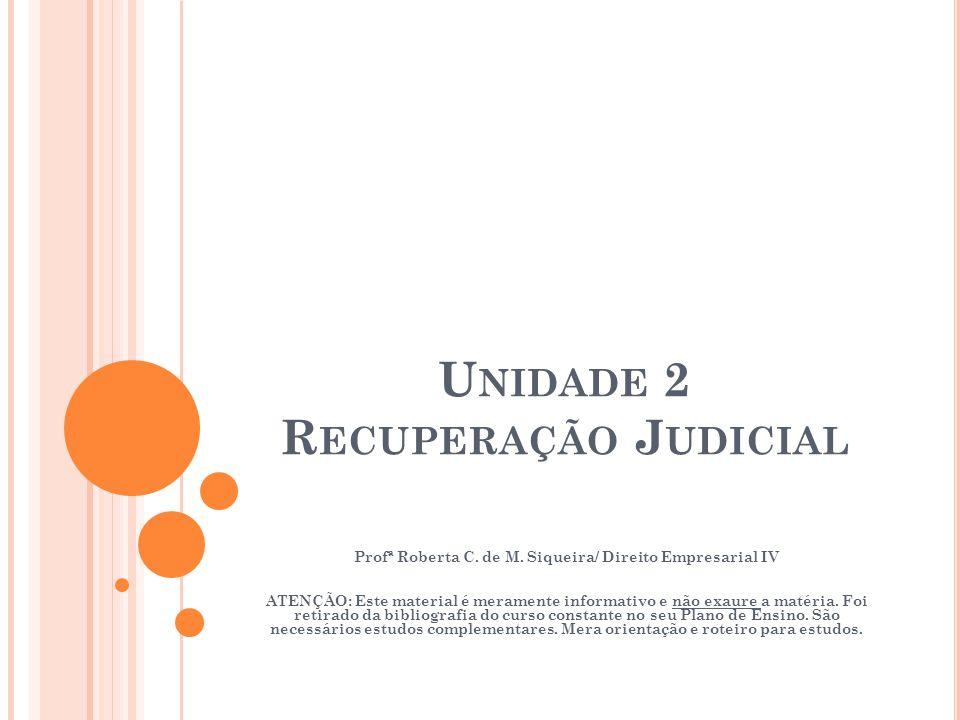 Unidade 2 Recuperação Judicial