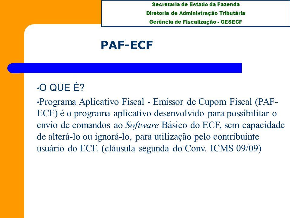 PAF-ECF O QUE É