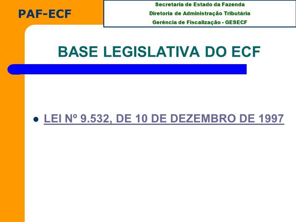 BASE LEGISLATIVA DO ECF