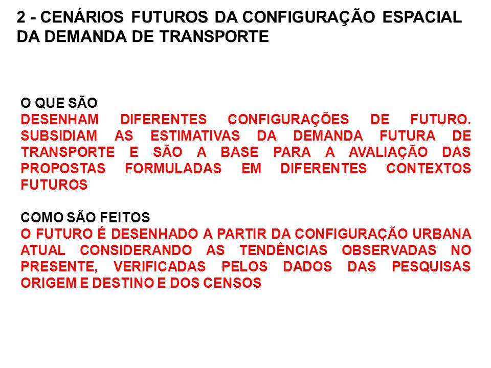 2 - CENÁRIOS FUTUROS DA CONFIGURAÇÃO ESPACIAL DA DEMANDA DE TRANSPORTE