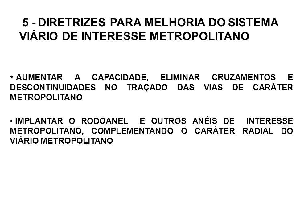 5 - DIRETRIZES PARA MELHORIA DO SISTEMA VIÁRIO DE INTERESSE METROPOLITANO