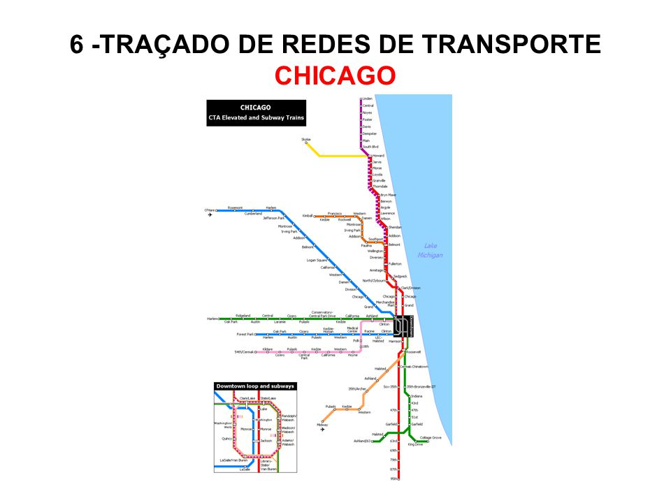 6 -TRAÇADO DE REDES DE TRANSPORTE CHICAGO