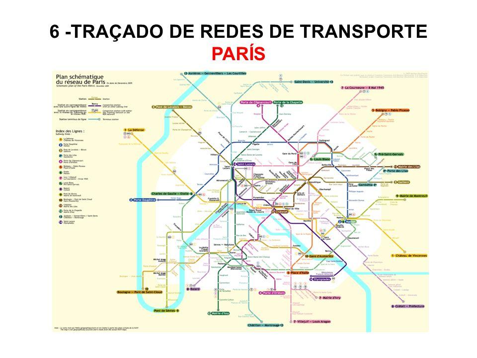 6 -TRAÇADO DE REDES DE TRANSPORTE PARÍS