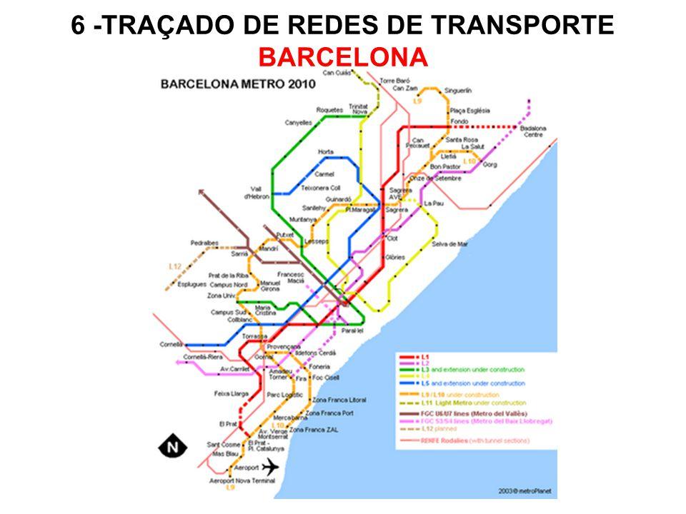 6 -TRAÇADO DE REDES DE TRANSPORTE BARCELONA