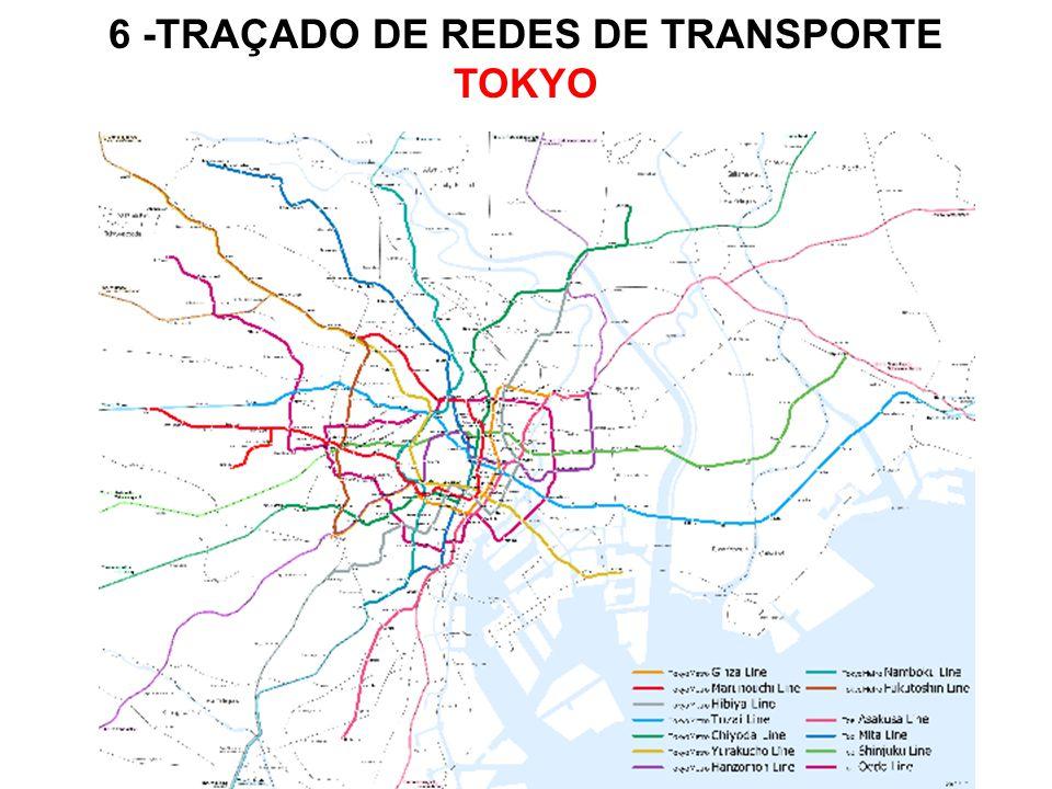 6 -TRAÇADO DE REDES DE TRANSPORTE TOKYO