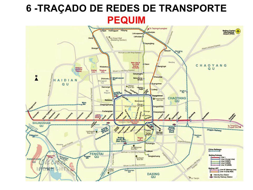 6 -TRAÇADO DE REDES DE TRANSPORTE PEQUIM