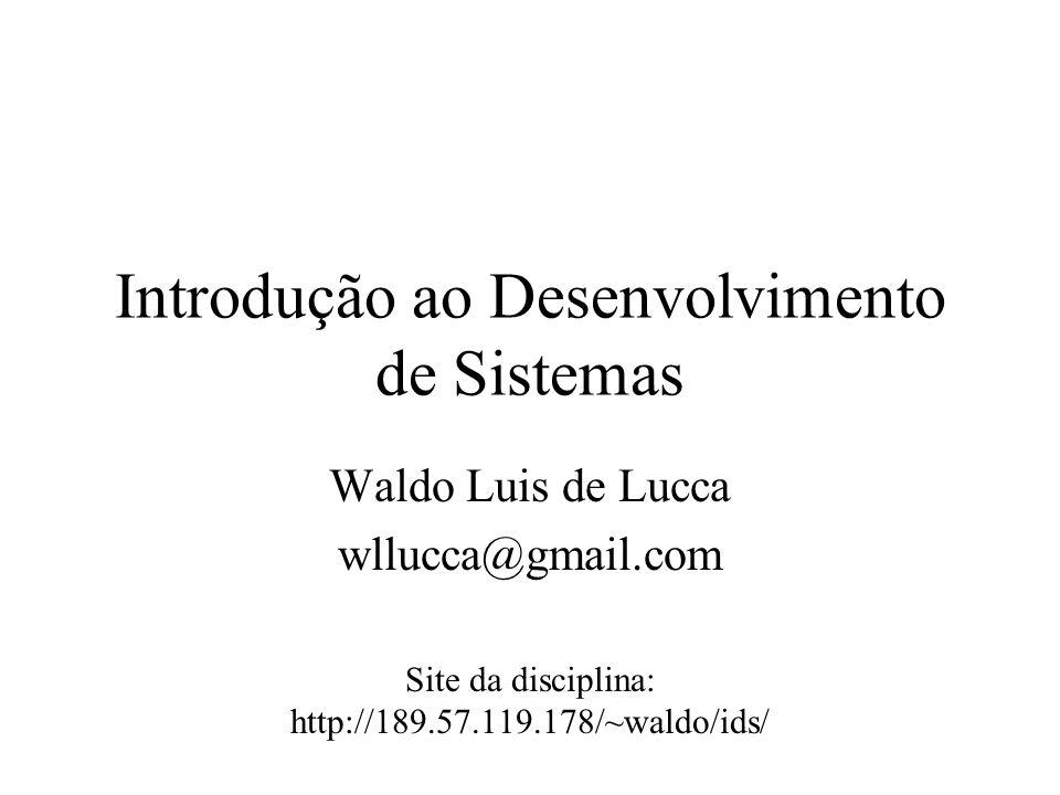 Introdução ao Desenvolvimento de Sistemas
