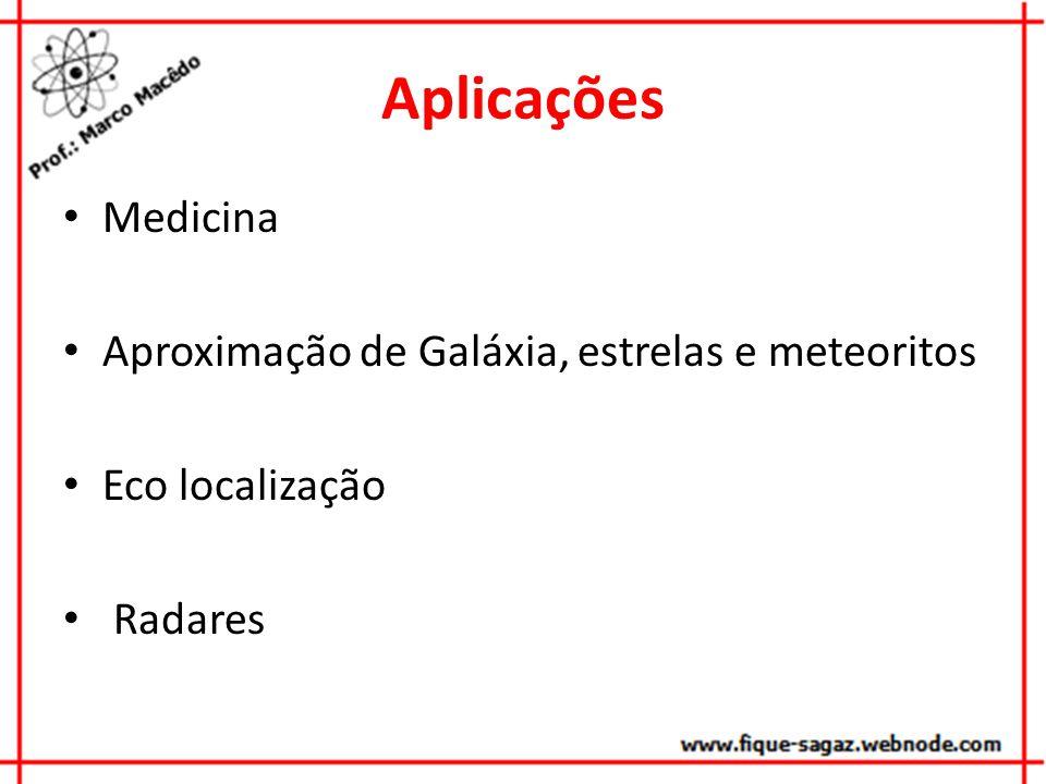 Aplicações Medicina Aproximação de Galáxia, estrelas e meteoritos