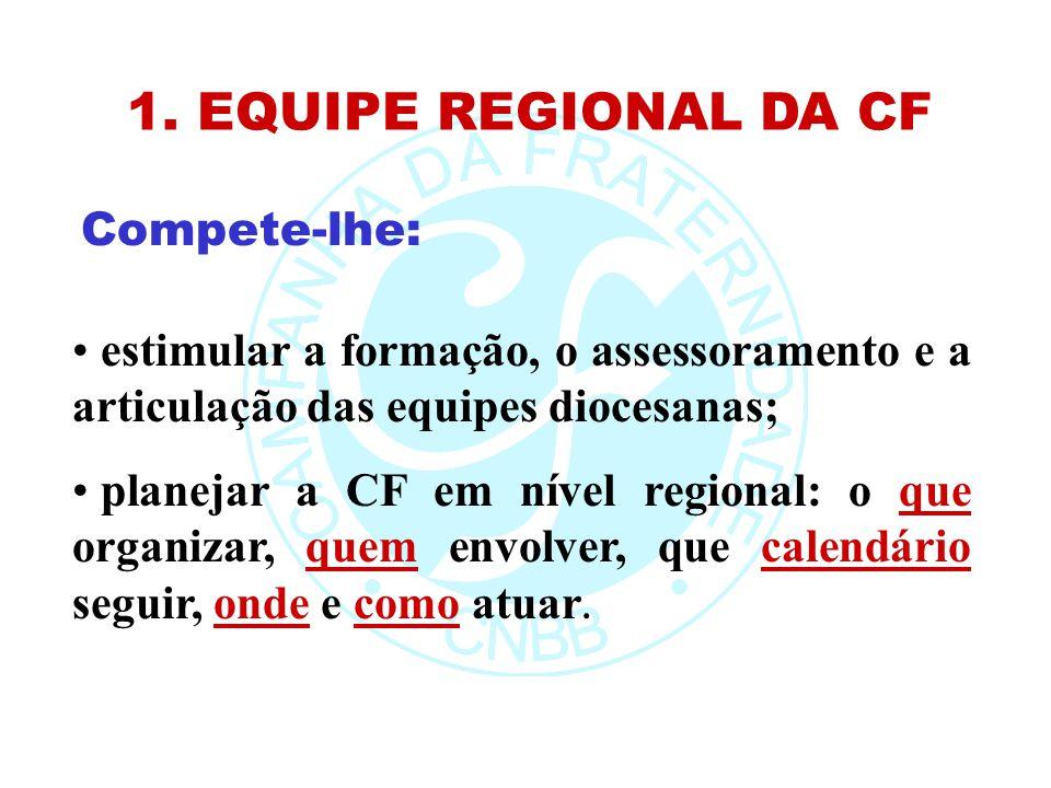 1. EQUIPE REGIONAL DA CF Compete-lhe: