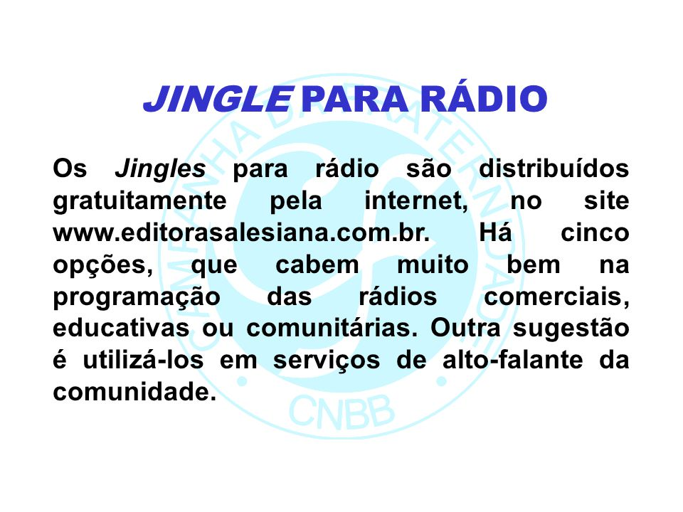 JINGLE PARA RÁDIO