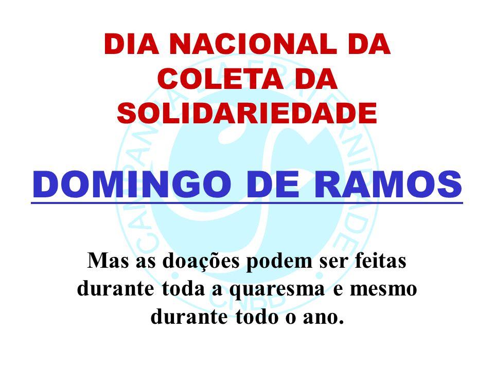 DIA NACIONAL DA COLETA DA SOLIDARIEDADE