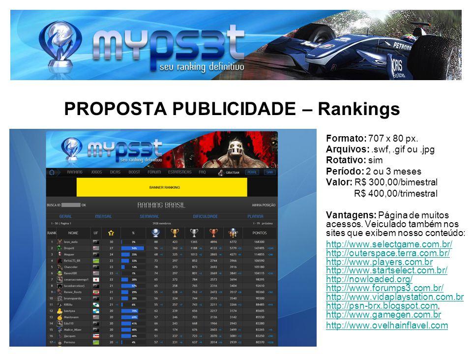 PROPOSTA PUBLICIDADE – Rankings