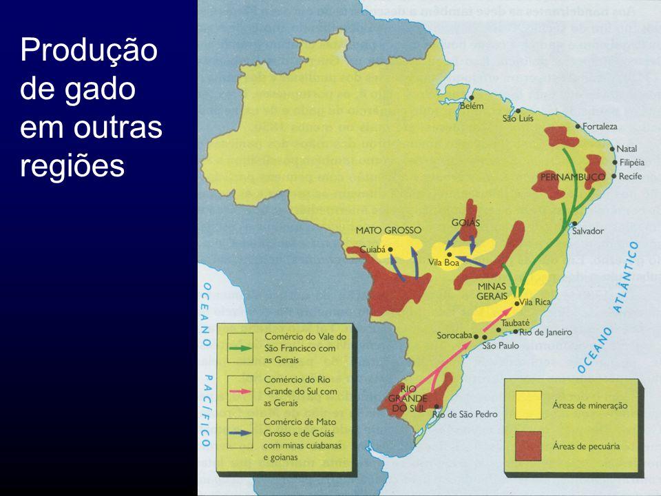 Produção de gado em outras regiões