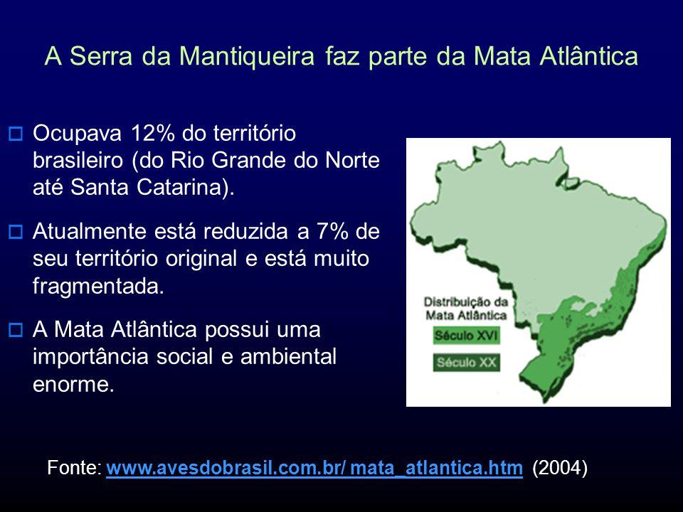 A Serra da Mantiqueira faz parte da Mata Atlântica
