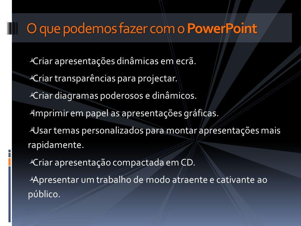 O que podemos fazer com o PowerPoint