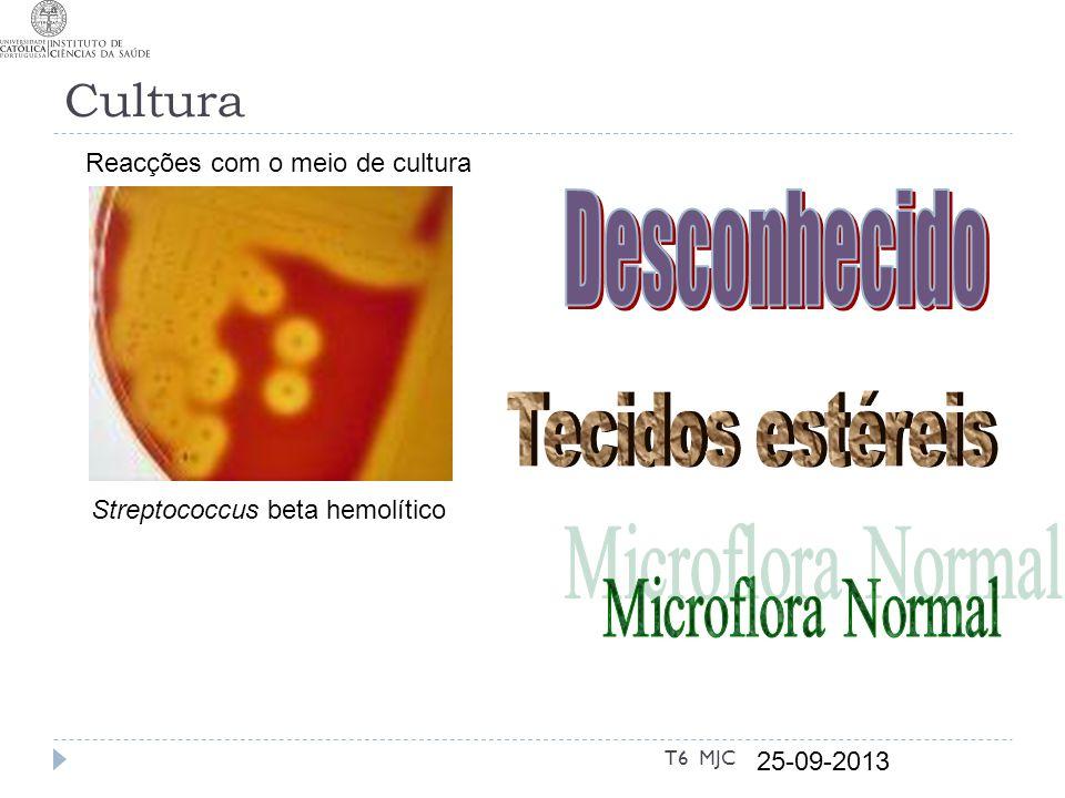 Desconhecido Tecidos estéreis Microflora Normal Cultura