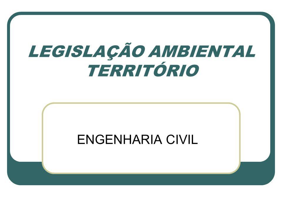 LEGISLAÇÃO AMBIENTAL TERRITÓRIO