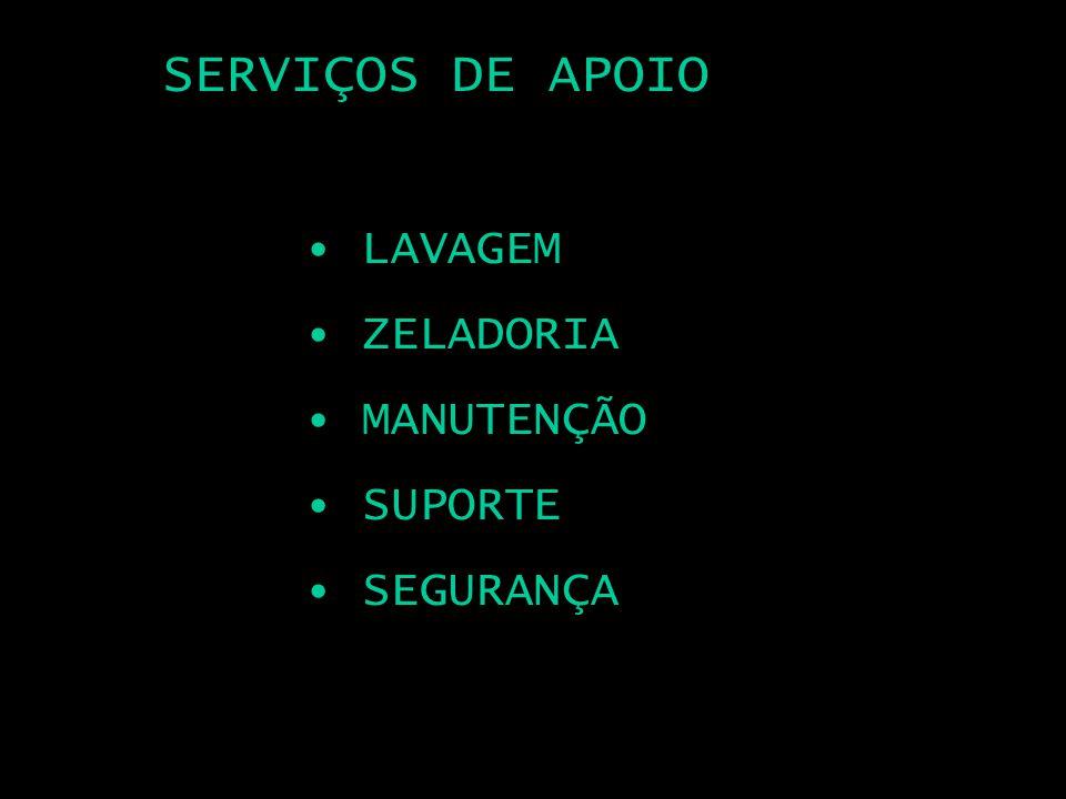 SERVIÇOS DE APOIO LAVAGEM ZELADORIA MANUTENÇÃO SUPORTE SEGURANÇA