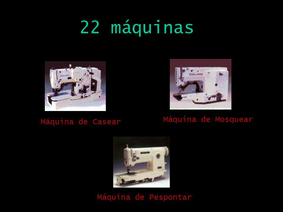22 máquinas Máquina de Mosquear Máquina de Casear Máquina de Pespontar