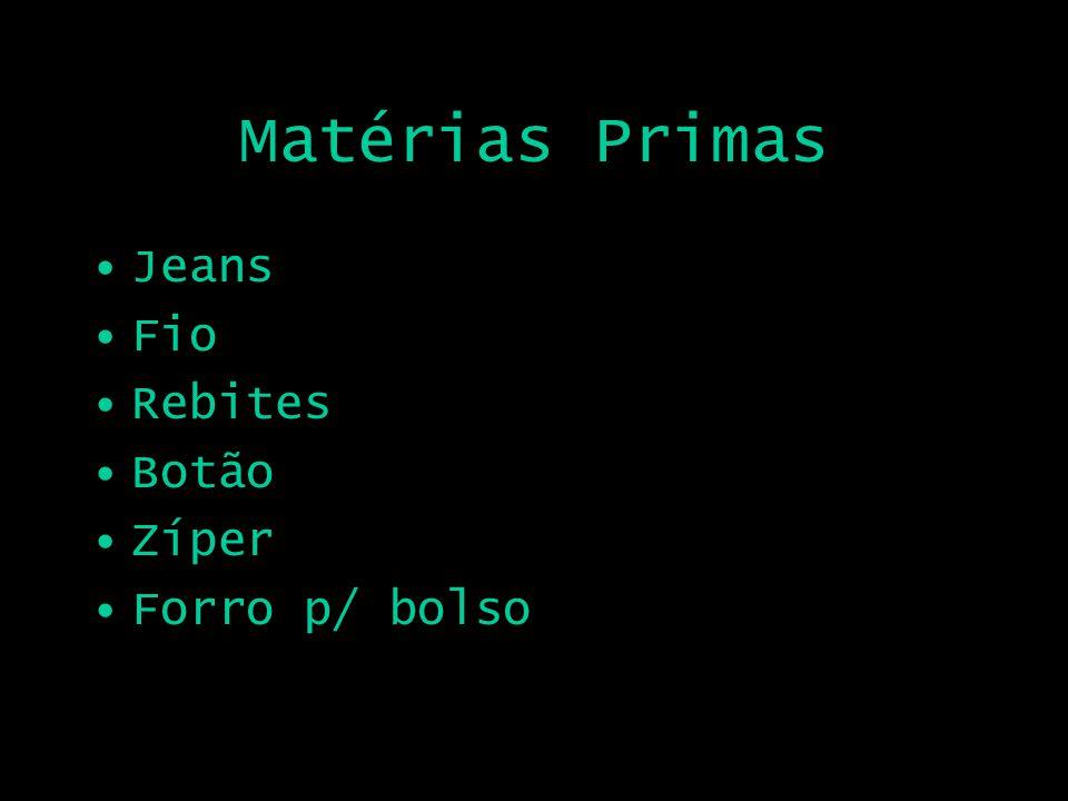 Matérias Primas Jeans Fio Rebites Botão Zíper Forro p/ bolso