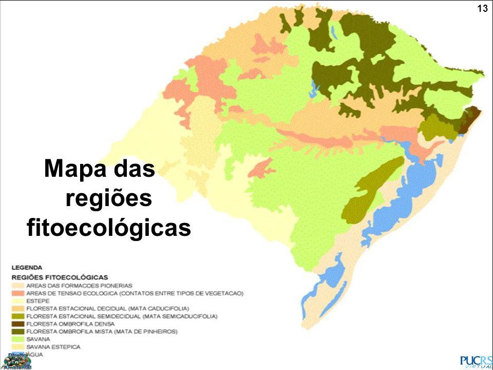 Mapa das regiões fitoecológicas