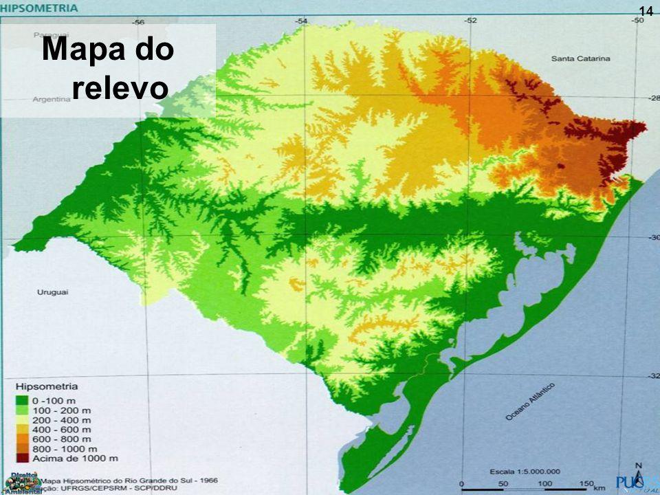 Mapa do relevo