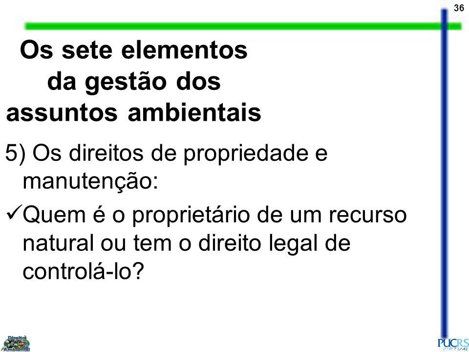 Os sete elementos da gestão dos assuntos ambientais