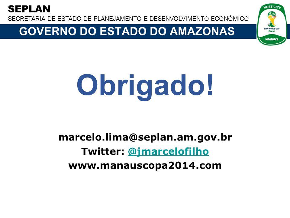 GOVERNO DO ESTADO DO AMAZONAS Twitter: @jmarcelofilho