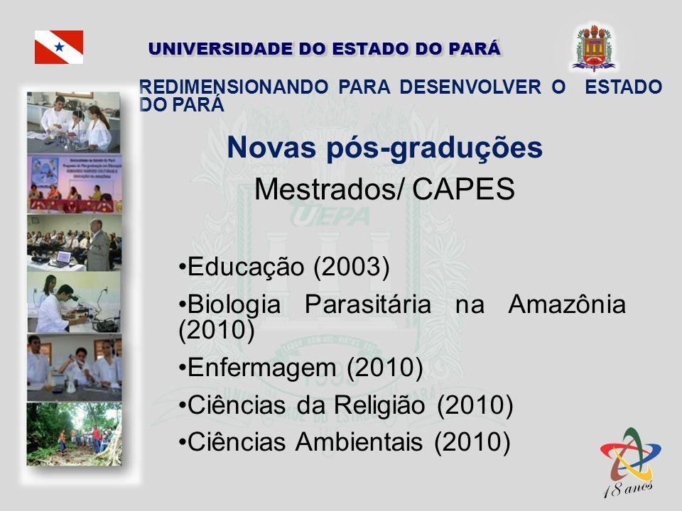 Novas pós-graduções Mestrados/ CAPES Educação (2003)