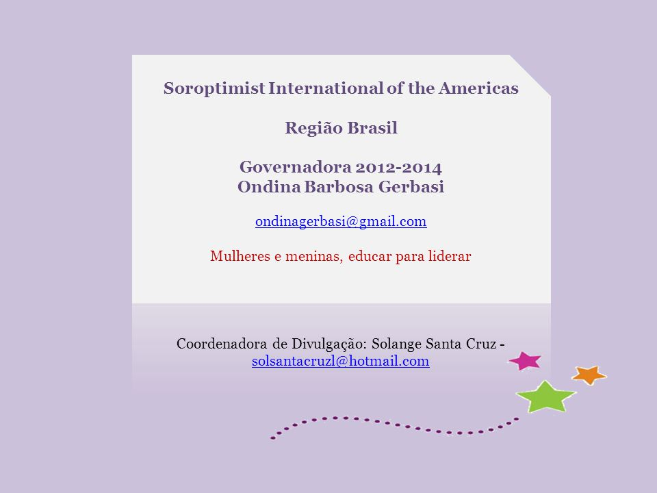 Soroptimist International of the Americas Ondina Barbosa Gerbasi