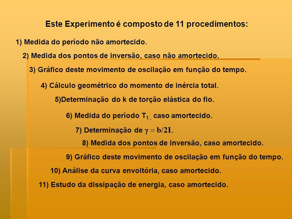 Este Experimento é composto de 11 procedimentos: