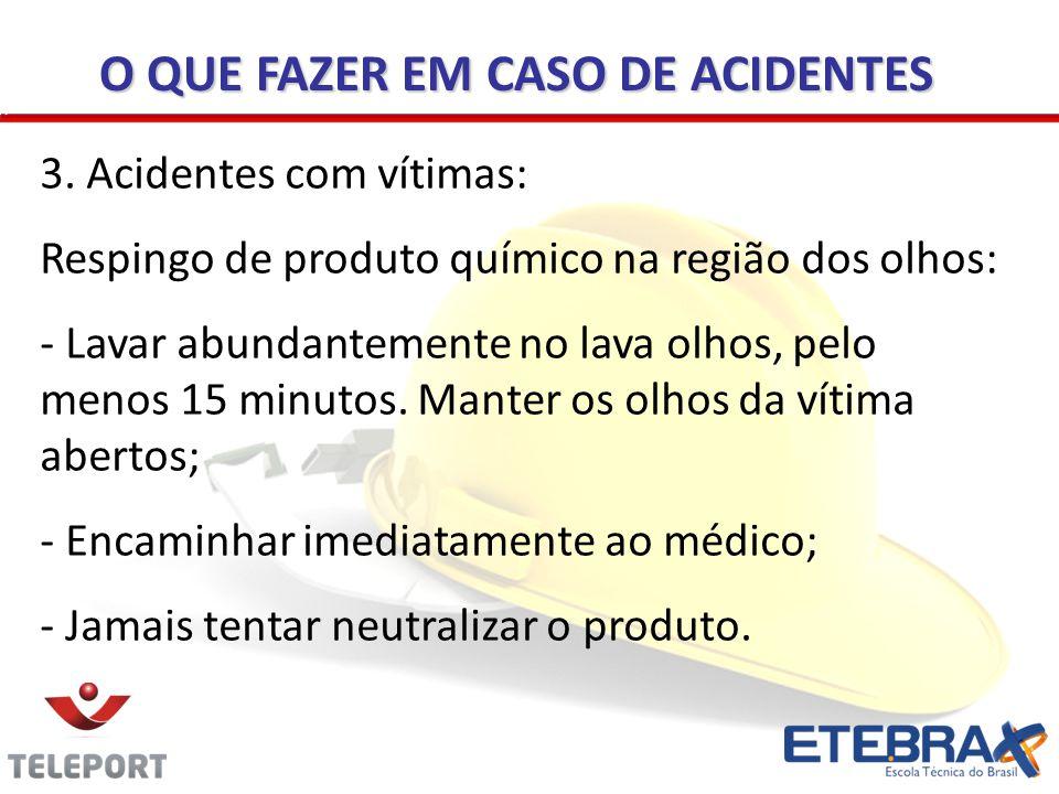 O QUE FAZER EM CASO DE ACIDENTES
