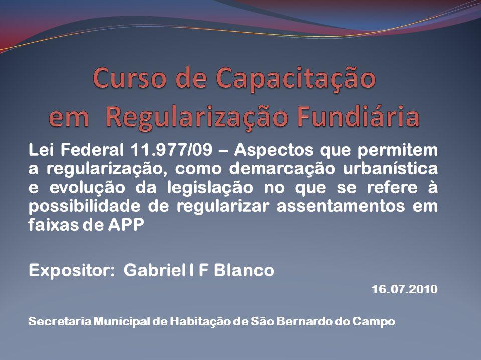 Curso de Capacitação em Regularização Fundiária