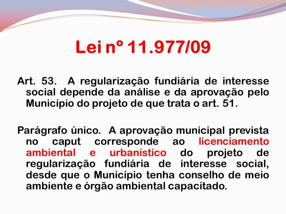 Lei nº 11.977/09
