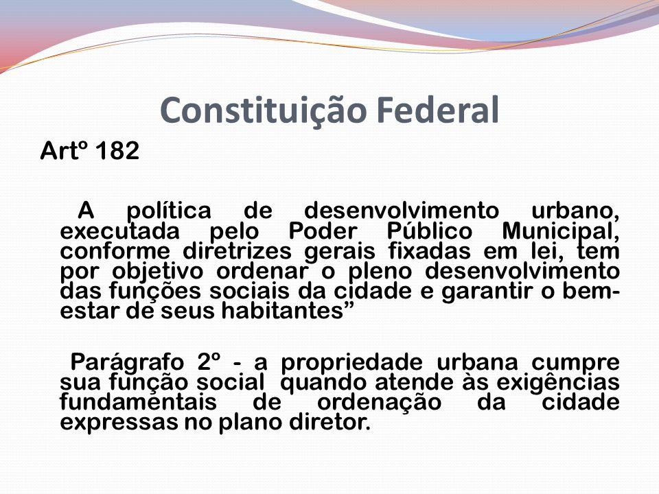 Constituição Federal Artº 182