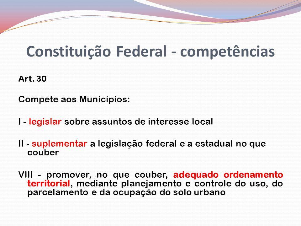 Constituição Federal - competências