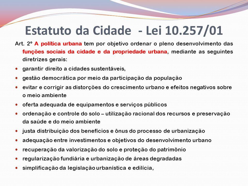 Estatuto da Cidade - Lei 10.257/01