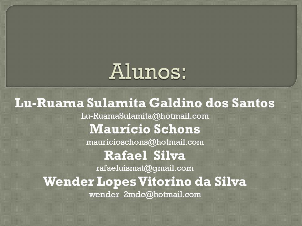 Lu-Ruama Sulamita Galdino dos Santos Wender Lopes Vitorino da Silva
