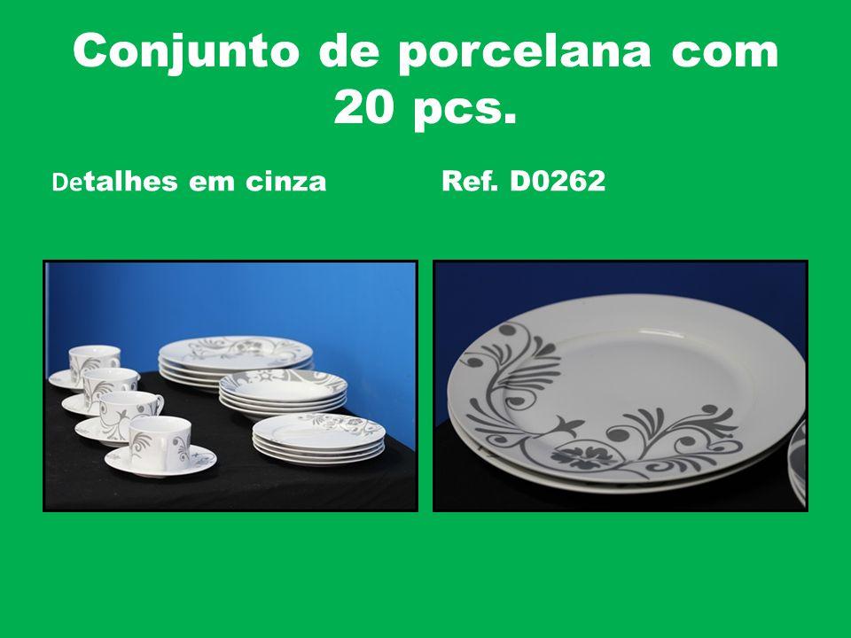 Conjunto de porcelana com 20 pcs.