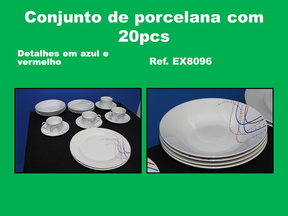 Conjunto de porcelana com 20pcs