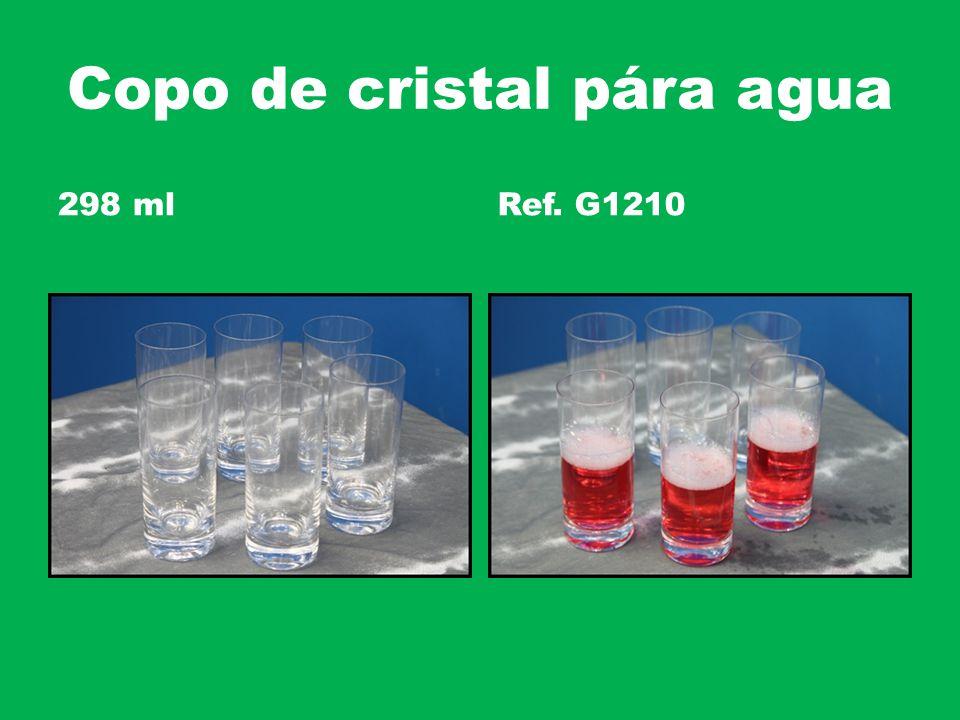 Copo de cristal pára agua