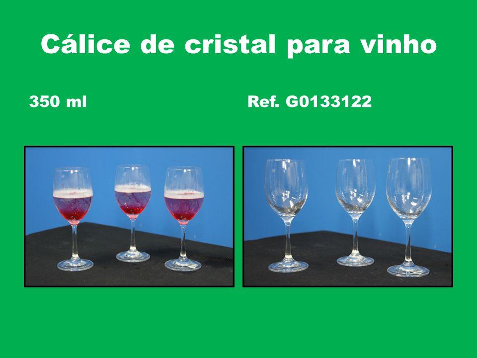 Cálice de cristal para vinho