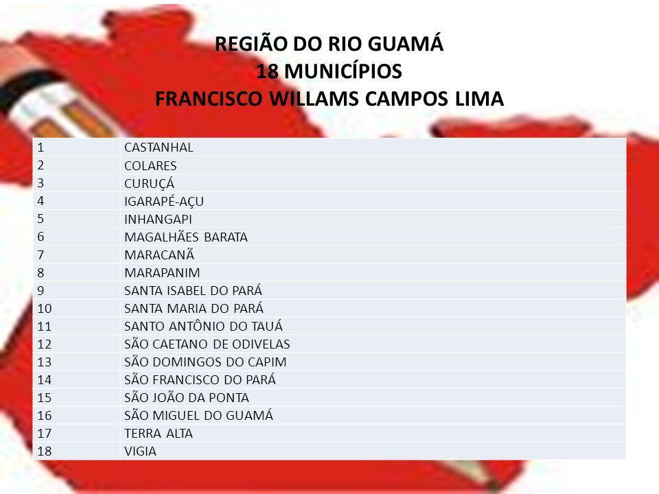 REGIÃO DO RIO GUAMÁ 18 MUNICÍPIOS FRANCISCO WILLAMS CAMPOS LIMA