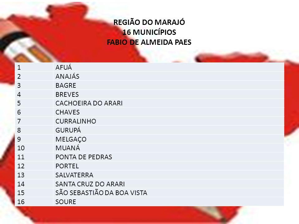 REGIÃO DO MARAJÓ 16 MUNICÍPIOS FABIO DE ALMEIDA PAES