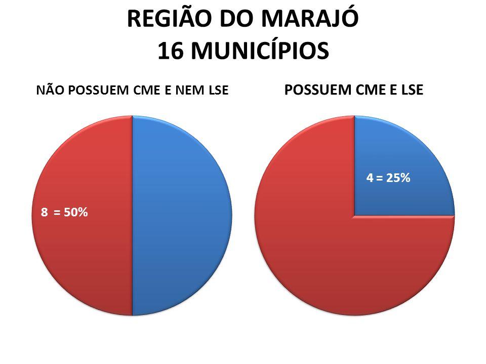 REGIÃO DO MARAJÓ 16 MUNICÍPIOS